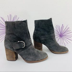 ISOLA Lavoy / Leather Suede Buckled Heeled Bootie